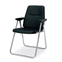 折りたたみ椅子(ブラック)肘付